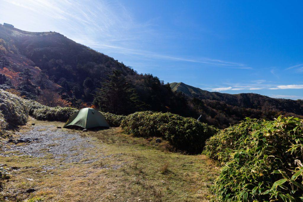 剣山のテント場
