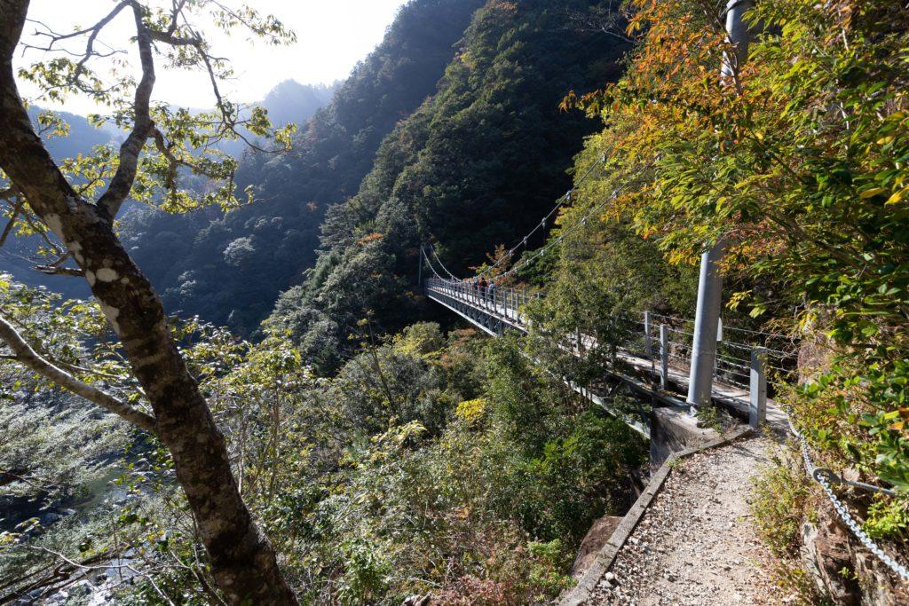 大杉谷の吊り橋